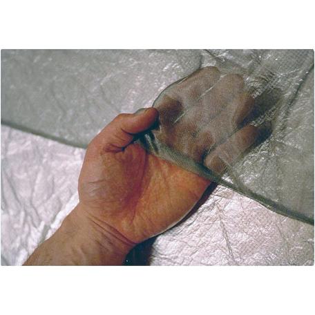 Tissu argent transparent 50 dB